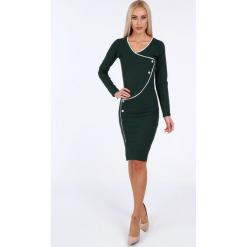 Zielona sukienka dopasowana 19140. Zielone sukienki Fasardi, l, dopasowane. Za 69,00 zł.