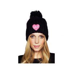 CZAPKA LAZY BLACK. Czarne czapki zimowe damskie JUNGMOB, z aplikacjami. Za 69,00 zł.