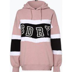 Superdry - Damska bluza nierozpinana, różowy. Szare bluzy z kapturem damskie marki Superdry, l, z nadrukiem, z bawełny, z okrągłym kołnierzem. Za 379,95 zł.