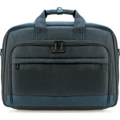 Torba na laptopa 85-3P-104-7. Niebieskie torby na laptopa Wittchen, w paski, z materiału. Za 149,00 zł.