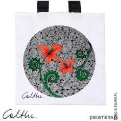 Shopper bag damskie: Czerwone kwiaty – torba premium (kolory)