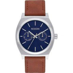 Zegarki męskie: Zegarek męski Navy Sunray Brown Nixon Time Teller Deluxe Leather A9272307
