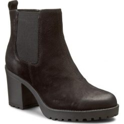 Botki VAGABOND - Grace 4228-150-20 Black. Czarne buty zimowe damskie marki Vagabond, z materiału. W wyprzedaży za 259,00 zł.