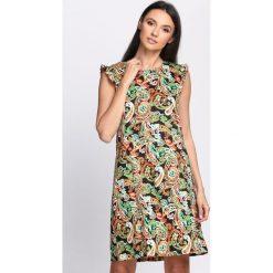 Sukienki: Czarno-Pomarańczowa Sukienka All I Need