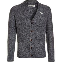 Abercrombie & Fitch DIP DYE CARDIGAN Kardigan grey. Szare swetry chłopięce Abercrombie & Fitch, z bawełny. W wyprzedaży za 191,20 zł.