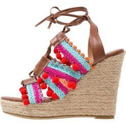Rzymianki damskie: Glamorous Sandały na obcasie brown/multicolor