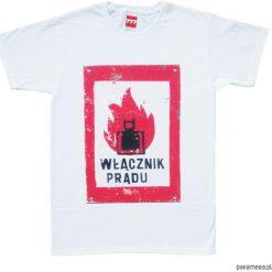 Koszulka WŁĄCZNIK PRĄDU. Szare t-shirty męskie Pakamera. Za 77,00 zł.