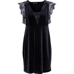 Sukienki balowe: Sukienka aksamitna z koronką bonprix czarny