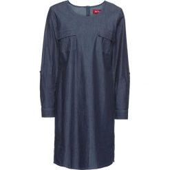 Długie sukienki: Sukienka dżinsowa, długi rękaw bonprix ciemnoniebieski