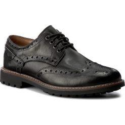 Półbuty męskie: Półbuty CLARKS - Montacute Wing 203510927 Black Leather