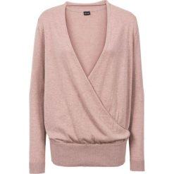 Sweter kopertowy bonprix stary jasnoróżowy. Czerwone swetry klasyczne damskie bonprix, z kopertowym dekoltem. Za 74,99 zł.