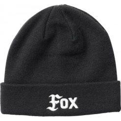 FOX Czapka Damska Flat Track Uni, Czarna. Szare czapki zimowe damskie marki FOX, z bawełny. Za 117,00 zł.