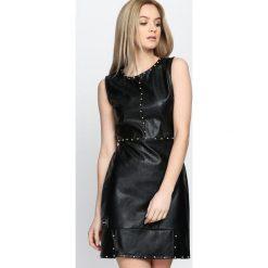 Czarna Sukienka Come Back To Me. Czarne sukienki mini marki Born2be, s, z falbankami, na ramiączkach. Za 99,99 zł.