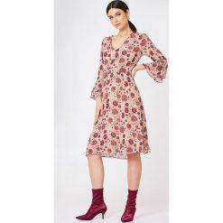 Sukienki hiszpanki: Second Female Sukienka Bohemia – Pink,Multicolor