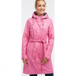 Płaszcz przeciwdeszczowy w kolorze różowym. Czerwone płaszcze damskie Schmuddelwedda, xs, w paski. W wyprzedaży za 347,95 zł.