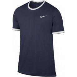 Odzież sportowa męska: Nike Męska Koszulka Sportowa  M Nkct Dry Top Team Midnight Navy White S