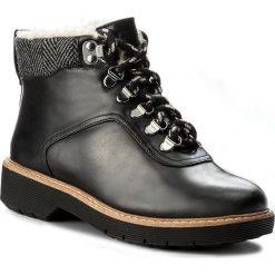 Botki CLARKS - Witcombe Rock 261273174 Black Leather. Czarne botki damskie skórzane Clarks, rockowe. W wyprzedaży za 329,00 zł.