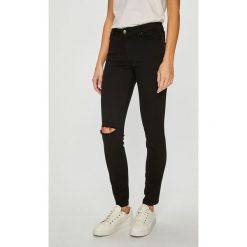 Armani Exchange - Jeansy. Czarne jeansy damskie marki Armani Exchange, l, z materiału, z kapturem. Za 479,90 zł.