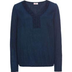 Tunika z koronką, długi rękaw bonprix ciemnoniebieski. Niebieskie tuniki damskie z długim rękawem bonprix, w koronkowe wzory, z koronki. Za 74,99 zł.