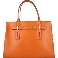 """Torebki klasyczne damskie: Skórzana torebka """"Mabillion"""" w kolorze karmelowym – 30 x 23 x 12,5 cm"""