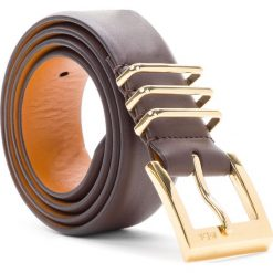 Pasek Damski LAUREN RALPH LAUREN - Classic 412655910002 XS Chocolate. Brązowe paski damskie Lauren Ralph Lauren, w paski, ze skóry. Za 219,90 zł.