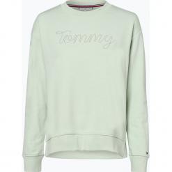 Tommy Hilfiger - Damska bluza nierozpinana, zielony. Zielone bluzy damskie TOMMY HILFIGER, xs, z napisami. Za 449,95 zł.