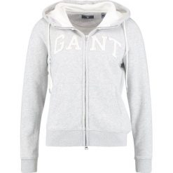 Kardigany damskie: GANT FULL ZIP HOODIE Bluza rozpinana light grey melange