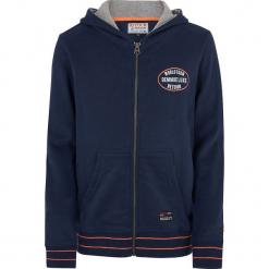 Bluza w kolorze granatowym. Niebieskie bluzy chłopięce marki Retour Denim de Luxe, z nadrukiem. W wyprzedaży za 95,95 zł.