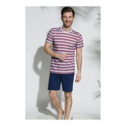 Piżama Max 072 SS/18 K2 Czerwono-granatowa. Niebieskie piżamy męskie marki Quiksilver, z materiału, sportowe. Za 76,90 zł.