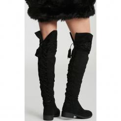 Czarne Kozaki Wishing Window. Czarne buty zimowe damskie vices, na płaskiej podeszwie. Za 149,99 zł.