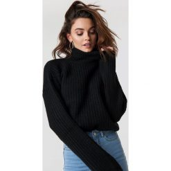 Trendyol Sweter z golfem Vizon - Black. Czarne swetry oversize damskie Trendyol, z dzianiny. Za 100,95 zł.