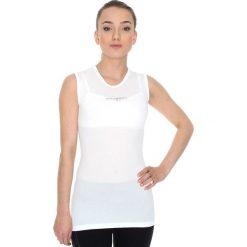 Bluzki sportowe damskie: Brubeck Koszulka damska typu base layer z krótkim rękawem biała r. S (SS10540)