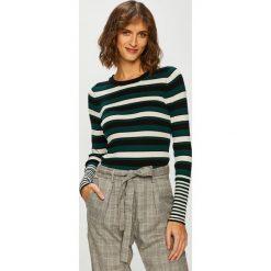 Jacqueline de Yong - Sweter. Szare swetry klasyczne damskie marki Jacqueline de Yong, l, z dzianiny, z okrągłym kołnierzem. Za 119,90 zł.