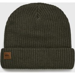 Quiksilver - Czapka. Szare czapki zimowe męskie Quiksilver, na zimę, z dzianiny. Za 129,90 zł.