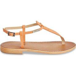 Sandały damskie: Sandały Narbuck, płaski obcas, japonki, skóra