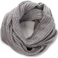 Szal TRUSSARDI JEANS - Neck Rib-Knitted 59Z00077 E010. Szare szaliki damskie marki Trussardi Jeans, z jeansu. Za 209,00 zł.