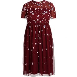 Sukienki hiszpanki: Lace & Beads Curvy BABY Sukienka letnia Bordeaux