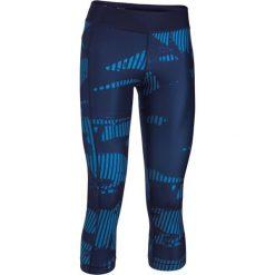 Spodnie sportowe damskie: Under Armour Spodnie Capri 3/4 granatowe r. M (1302774-410)