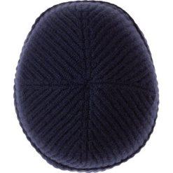 Johnstons Cashmere Czapka navy. Niebieskie czapki damskie Johnstons Cashmere, z kaszmiru. W wyprzedaży za 265,30 zł.
