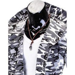 BLUZA MĘSKA Z KAPTUREM NARZUTKA B703 - CZARNA/MORO. Czarne bluzy męskie rozpinane marki Ombre Clothing, m, moro, z bawełny, z kapturem. Za 79,00 zł.