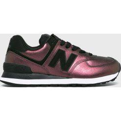 New Balance - Buty WL574KSB. Czarne buty sportowe damskie New Balance, z gumy. W wyprzedaży za 299,90 zł.