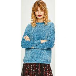 Medicine - Sweter Basic. Niebieskie swetry oversize damskie MEDICINE, l, z dzianiny, z okrągłym kołnierzem. Za 119,90 zł.
