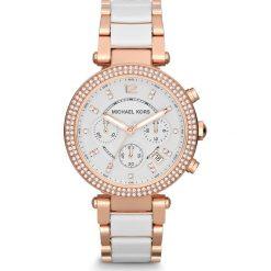 Zegarek MICHAEL KORS - Parker MK5774 Rose Gold/White/Rose Gold. Białe zegarki damskie Michael Kors. Za 1499,00 zł.