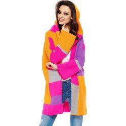 Swetry klasyczne damskie: Sweter w kolorze pomarańczowo-różowym