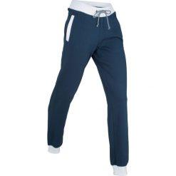 Spodnie sportowe, długie, Level 1 bonprix ciemnoniebieski. Niebieskie bryczesy damskie marki bonprix, z nadrukiem. Za 74,99 zł.