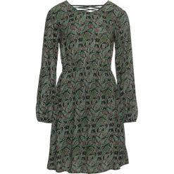 Sukienka z efektem marszczenia bonprix ciemnooliwkowy. Brązowe sukienki z falbanami marki DOMYOS, xs, z bawełny. Za 89,99 zł.