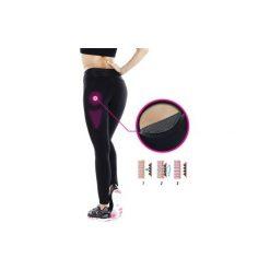 Legginsy fitness kardio SHAPE BOOSTER damskie. Czarne legginsy sportowe damskie marki DOMYOS, z elastanu. W wyprzedaży za 74,99 zł.