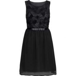 Sukienki balowe: Krótka sukienka wieczorowa z koronkową aplikacją bonprix czarny