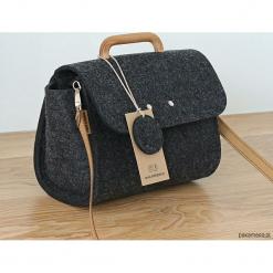 Mała grafitowa filcowa torebka FeltAndWood II. Szare torebki klasyczne damskie Pakamera, małe. Za 135,00 zł.