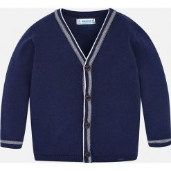 Mayoral - Sweter dziecięcy 92-134 cm. Niebieskie swetry klasyczne męskie Mayoral, z bawełny, z okrągłym kołnierzem. Za 104,90 zł.